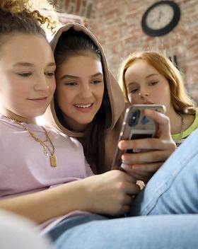 Teenagers on Mobile phone