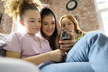 Teenagers on Mobile phone