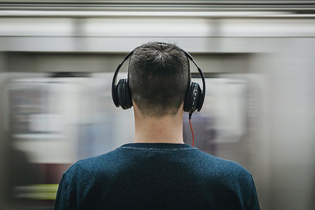 Commuter with Headphones