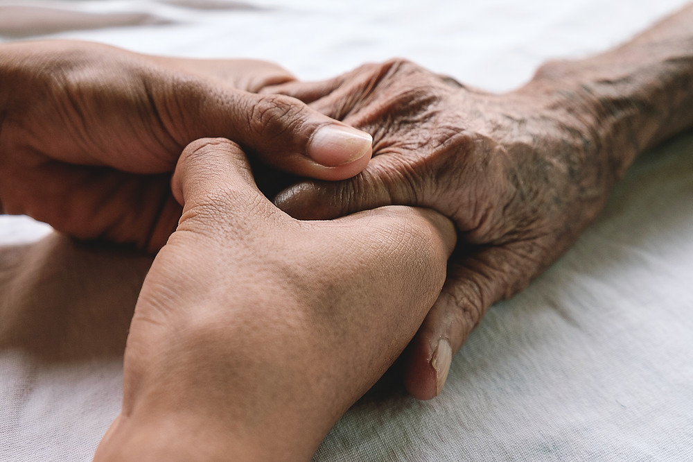 Find someone who'll hold your hand into old age.