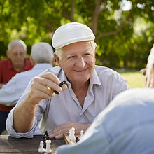 Senior Men Playing Chess
