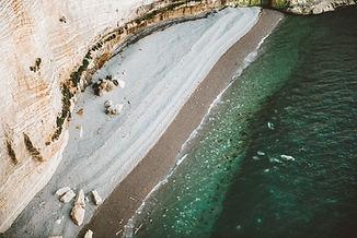 Vue aérienne d'une plage