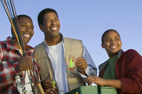 Three man fishing