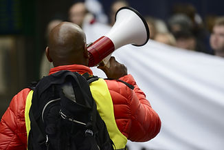 Megaphone Protestor