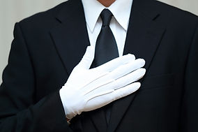 葬儀 (ブラックフォーマル お通夜 告別式 スーツ スタッフ コピースペース ボ