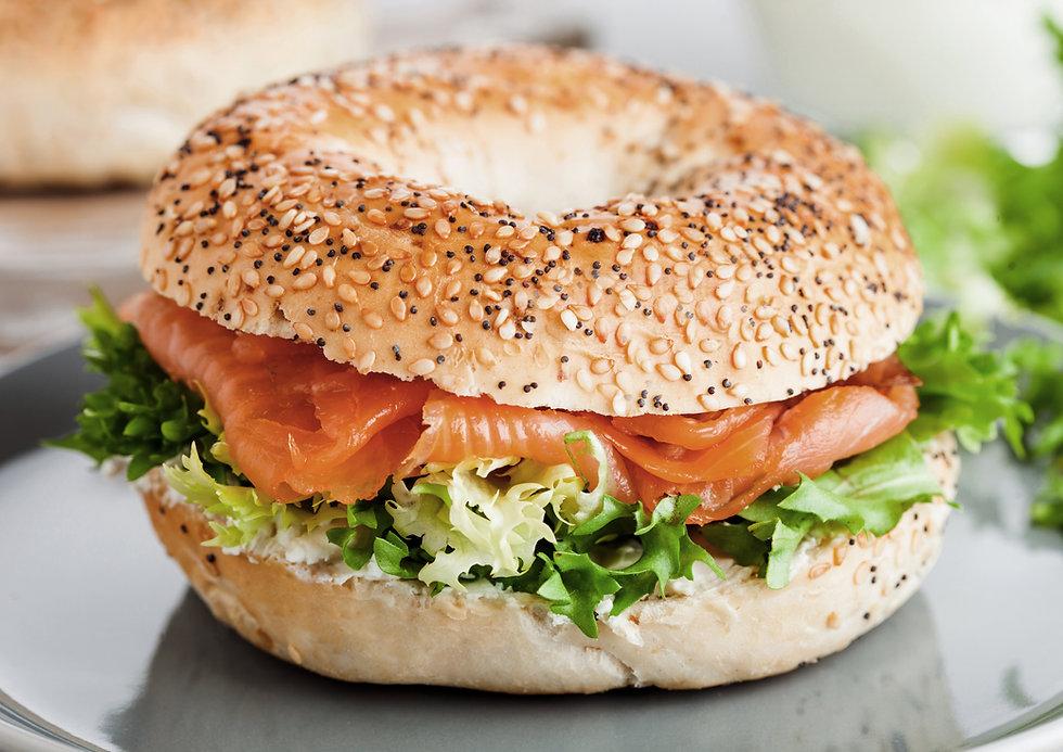 Smoked Salmon Bagel Sandwich
