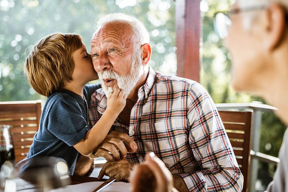 Whispering to Granddad