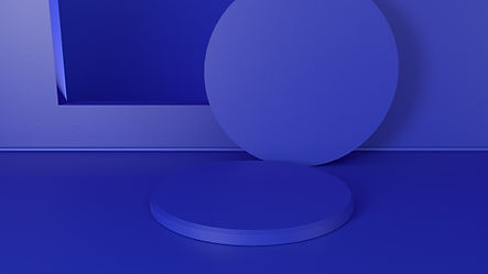 Formas redondas azuis