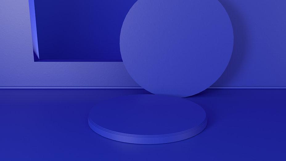 Blue Round Shapes