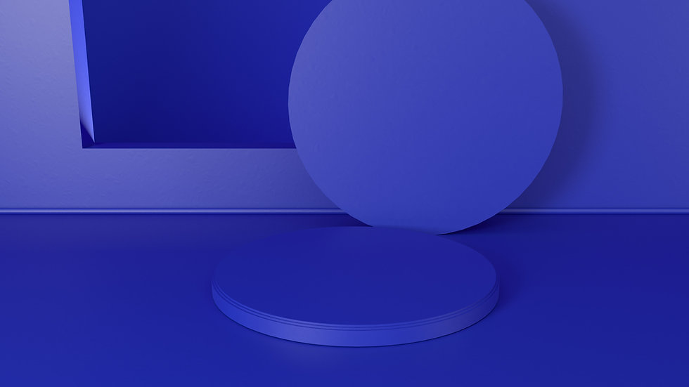 Formes rondes bleues