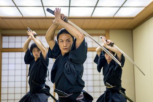 Martial Arts with Samurai Swords