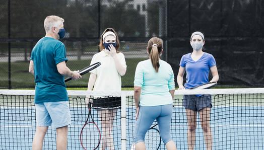 Tennis Players Wearing Masks