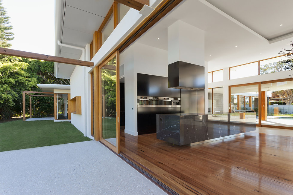 Modern Luxury Home, Kitchen, Living Area and Exterior