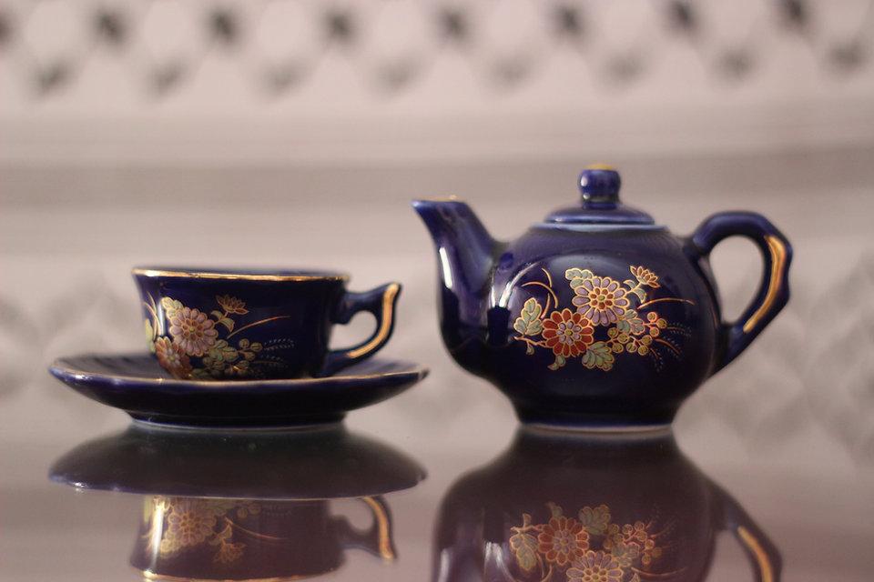 Ausgefallene Tee-Set