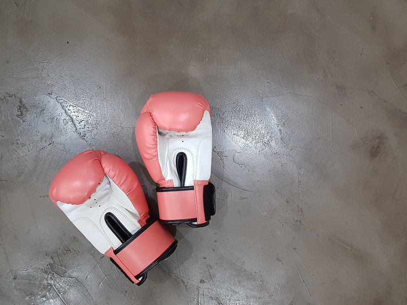 Boxing glove in a gym in Cardiff