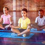 Děti meditují