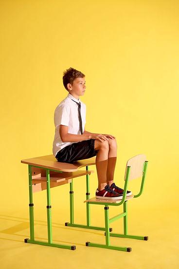 Schoolboy in Uniform