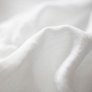 Tela blanca de algodón