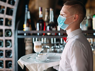 Waiter with Mask