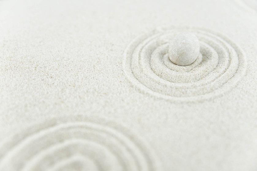 Sabbia bianca e pietra