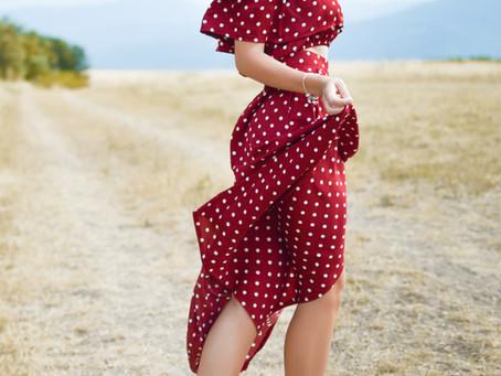El vestido rojo