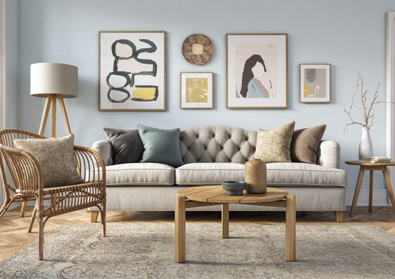 Soft Modern Living Room Design