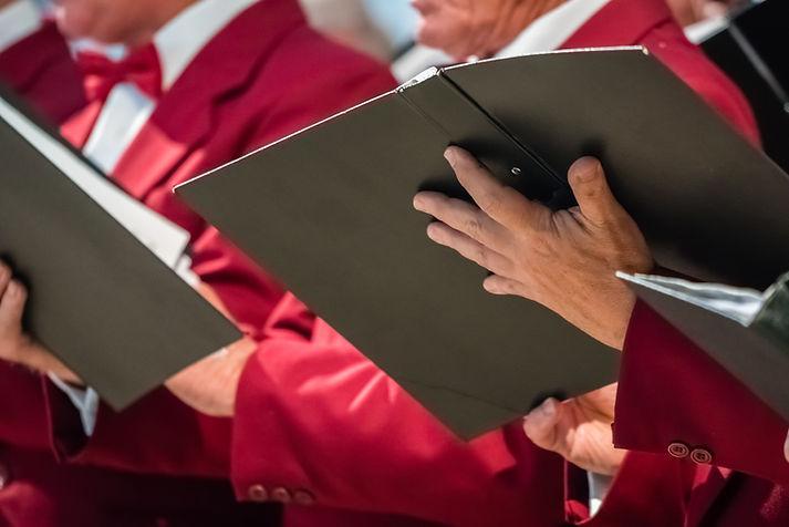Church Choir Singers and Music Sheets