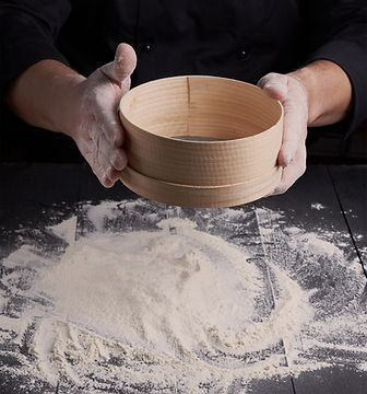 Straining Flour