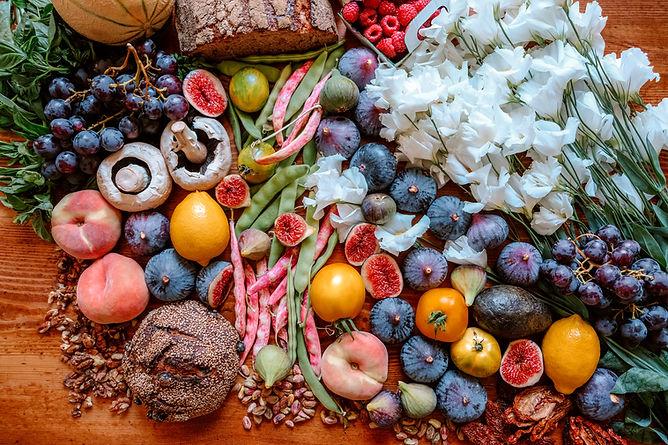 Aliments fraîchement cueillis