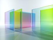 Цветное полупрозрачное стекло