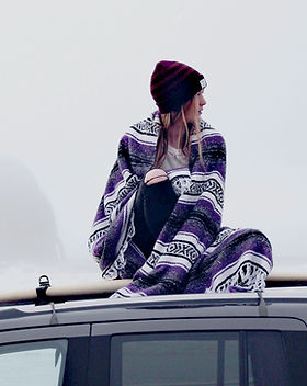Woman with Warm Blanket
