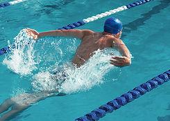 Swimmer in Swimming Lane