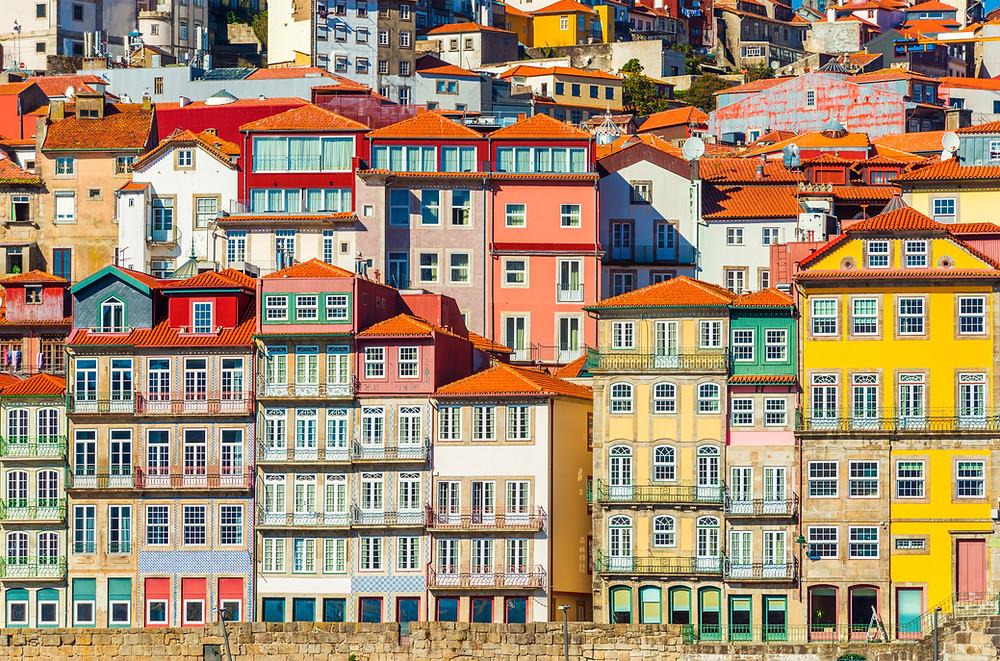 Casas coloridas do Porto, Portugal