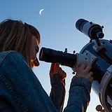 Mirando a través del telescopio