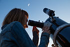 Looking Through Telescope
