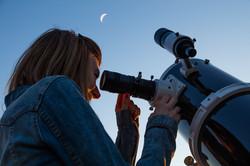 Guardando attraverso il telescopio