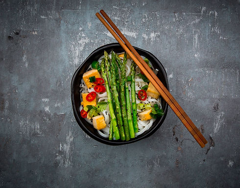 Asparagus and Tofu Noodles