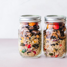 Mobile eating made easy with this quinoa dish in a jar - Mushrooms, quinoa + more