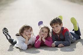 Трое детей
