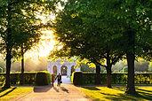Sonnenuntergang im Park