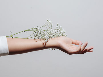 Flowers and Hand