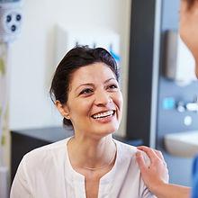 Glücklicher Patient