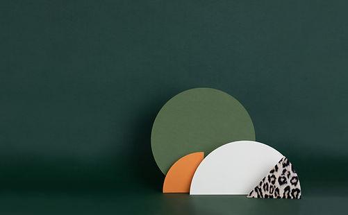 Structures de papier vert foncé