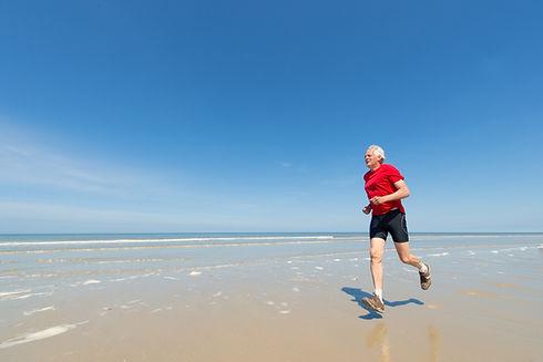 Oude jogger strand