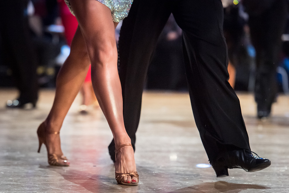 Dancesport competitors feet