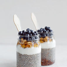 Chia Puddings in Jars