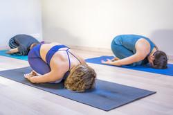 Child's yogazamene Pose