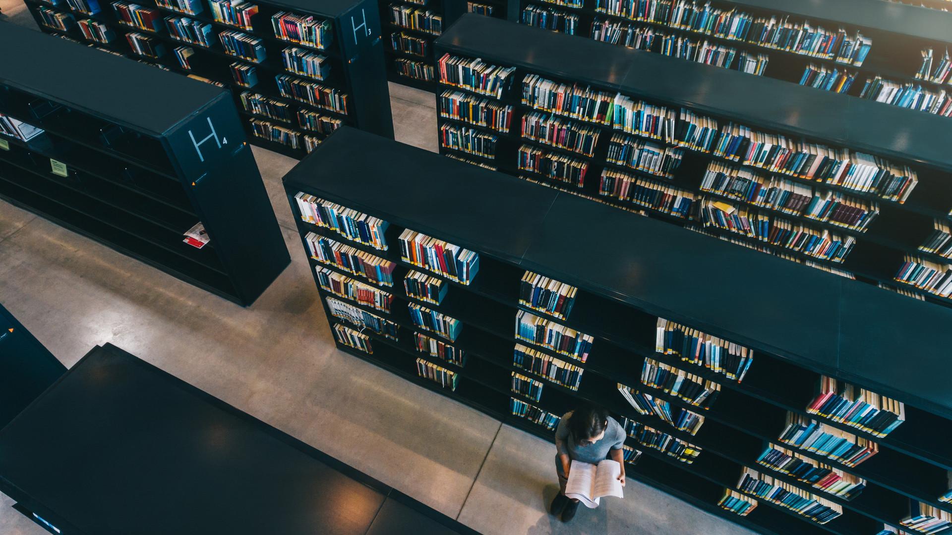 Widok z góry biblioteki