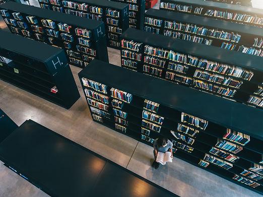 Draufsicht der Bibliothek