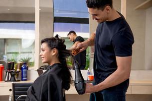 No cabeleireiro